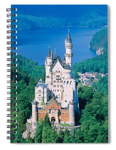High Angle View Of A Castle Spiral Notebook