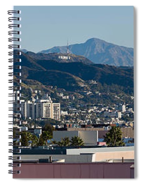 High Angle View Of A City, Beverly Spiral Notebook by Panoramic Images