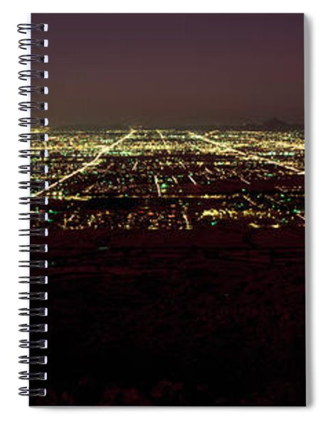 High Angle View Of A City, South Spiral Notebook