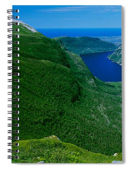 High Angle View Of A Plateau, Gros Spiral Notebook