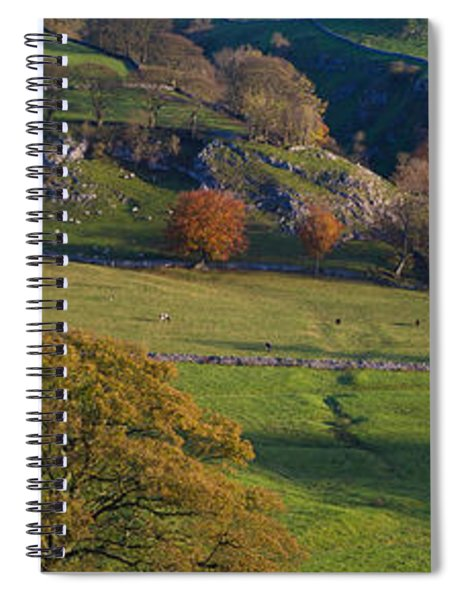 High Angle View Of A Village In Valley Spiral Notebook