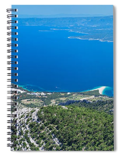 High Angle View Of The Hvar Island Spiral Notebook