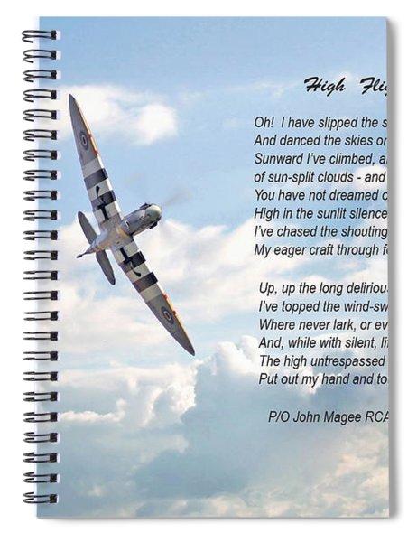High Flight Spiral Notebook