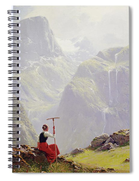 High In The Mountains Spiral Notebook