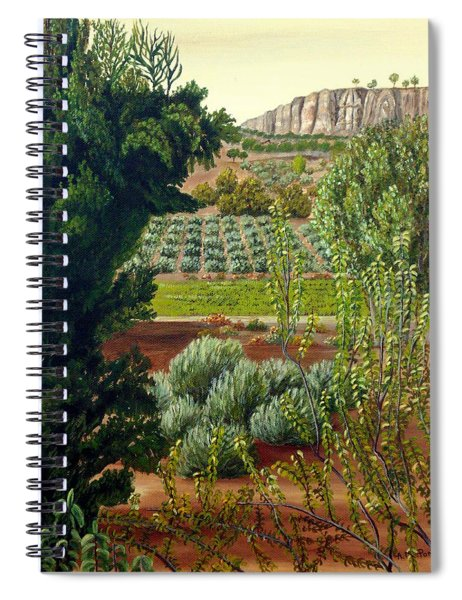 High Mountain Olive Trees  Spiral Notebook