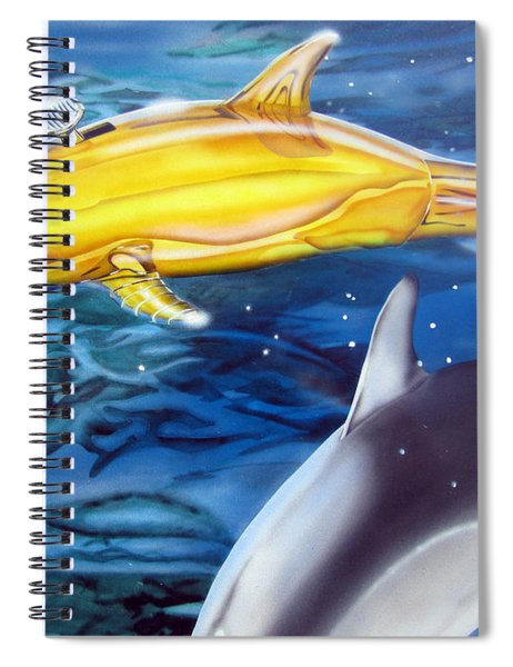 High Tech Dolphins Spiral Notebook