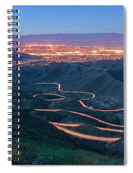 Highway 74 Palm Desert Ca Vista Point Light Painting Spiral Notebook