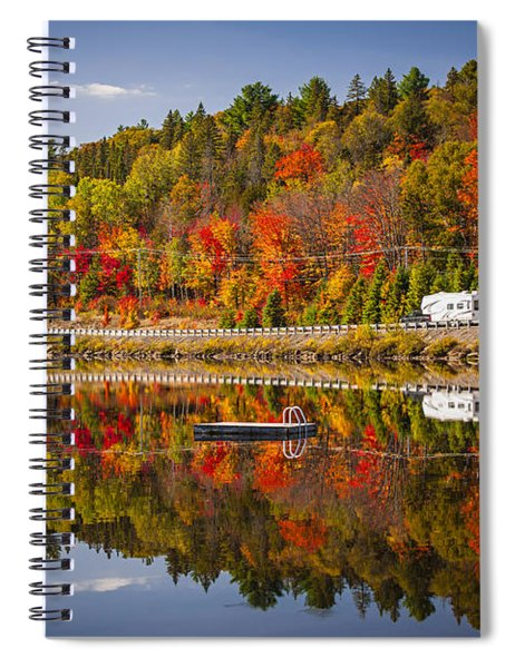Highway Through Fall Forest Spiral Notebook