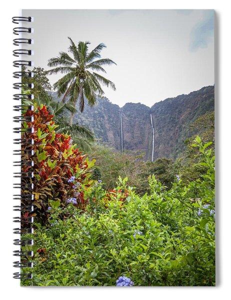 Hiilawe And Hakalaoa Falls Spiral Notebook