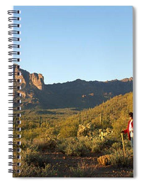 Hiker Standing On A Hill, Phoenix Spiral Notebook
