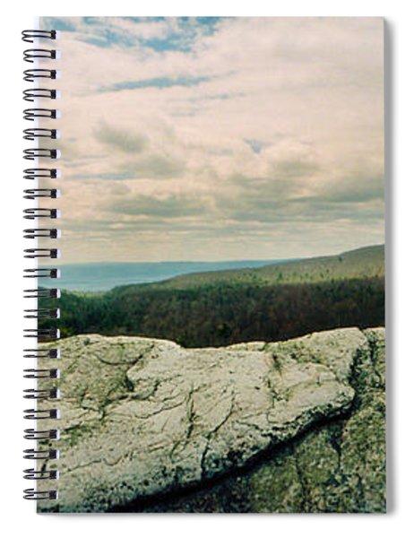 Hikers On Flat Boulders At Gertrudes Spiral Notebook