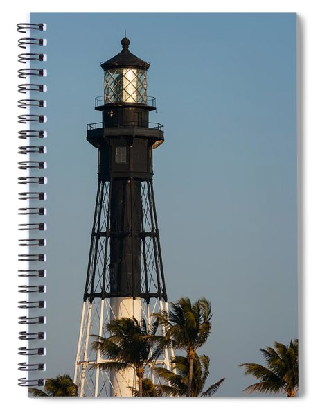 Hillsboro Inlet Lighthouse In The Evening Spiral Notebook