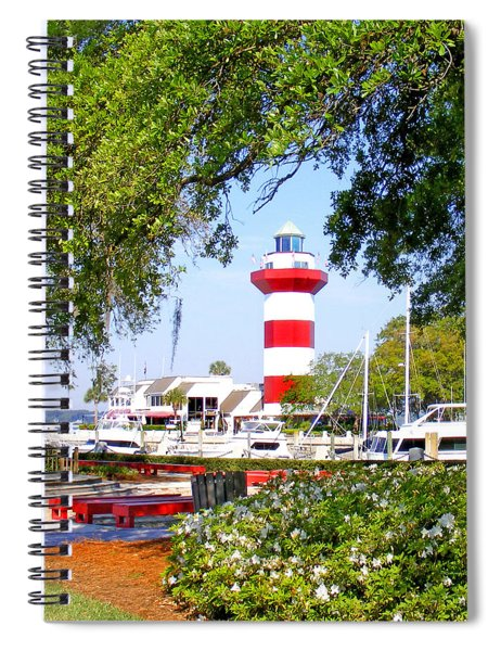 Hilton Head Lighthouse And Marina Spiral Notebook