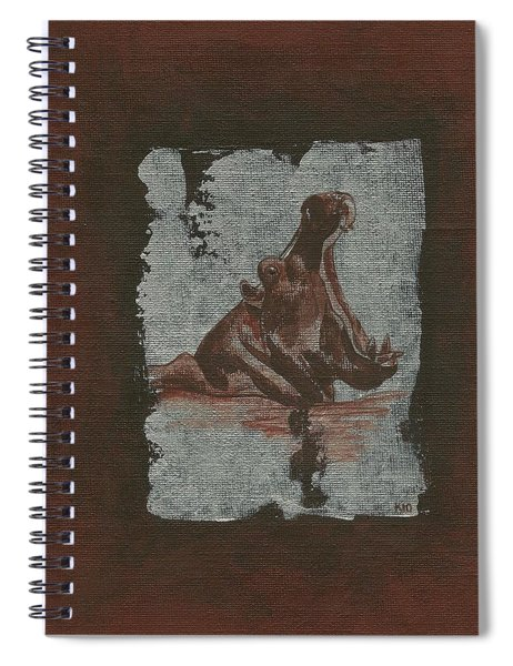 Hippo Spiral Notebook
