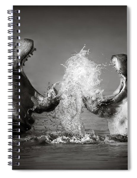 Hippo's Fighting Spiral Notebook