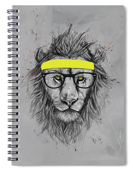 Hipster Lion Spiral Notebook