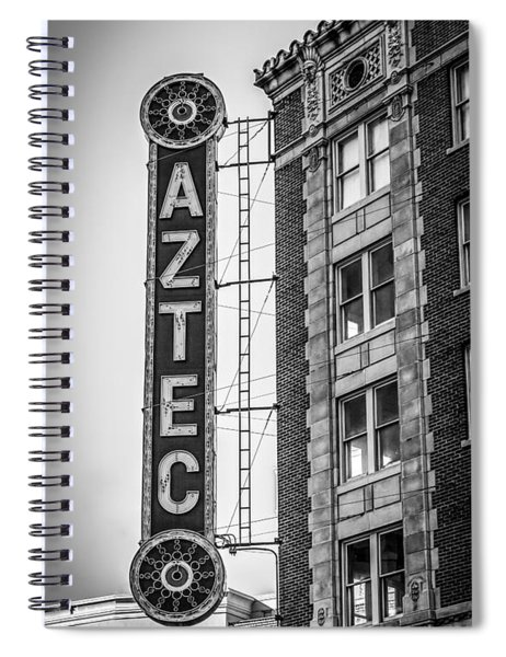 Historic Aztec Theater Spiral Notebook
