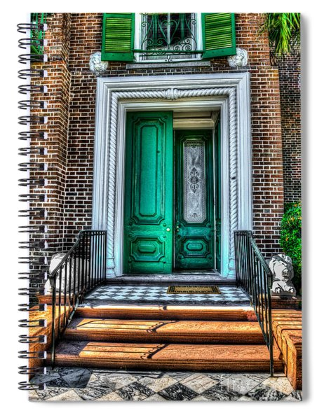 Historic Charleston Sc Door Spiral Notebook