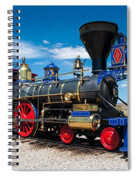 Historic Jupiter Steam Locomotive - Promontory Point Spiral Notebook