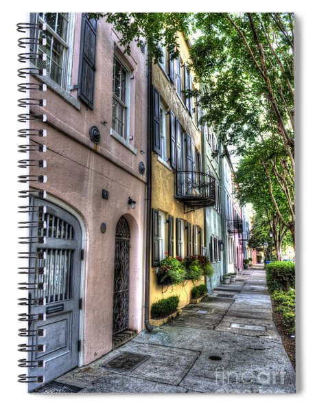 Historic Rainbow Row Spiral Notebook