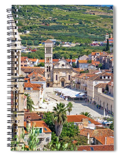 Historic Town Of Hvar Stone Architecture Spiral Notebook