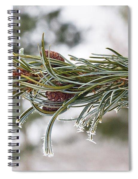 Hoar Frost Spiral Notebook