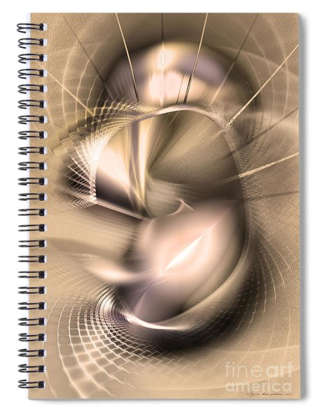 Hoc Omnis Est - Abstract Art Spiral Notebook