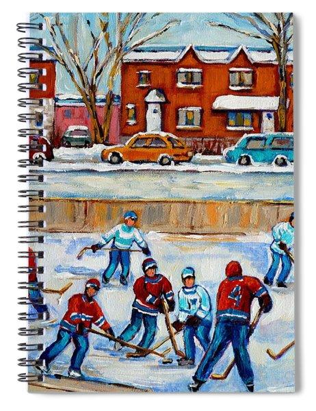 Hockey Rink At Van Horne Montreal Spiral Notebook