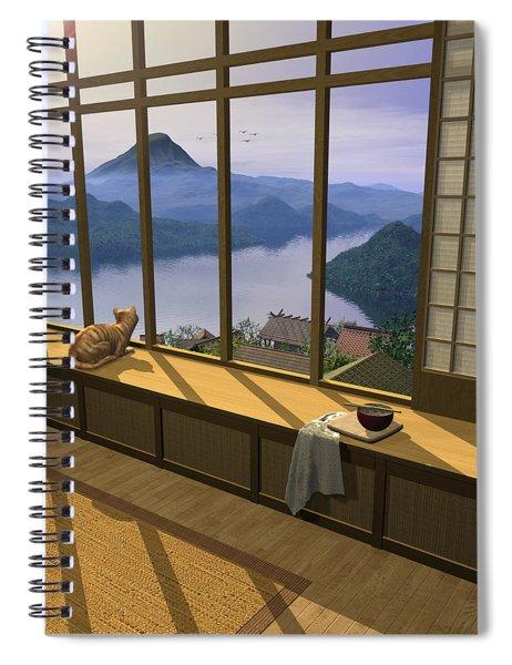Hokusai Spiral Notebook