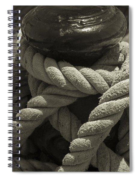 Hold On Black And White Sepia Spiral Notebook