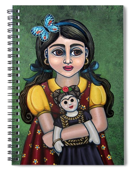 Holding Frida With Butterfly Spiral Notebook