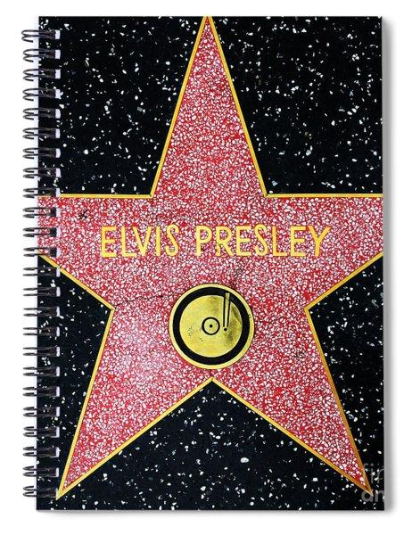 Hollywood Walk Of Fame Elvis Presley 5d28923 Spiral Notebook