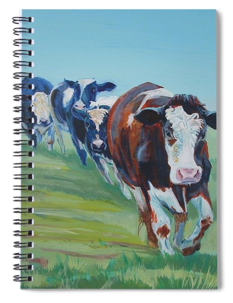 Holstein Friesian Cows Spiral Notebook