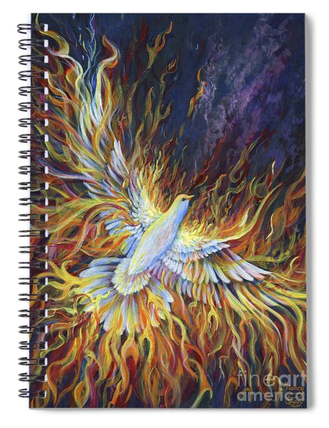 Holy Fire Spiral Notebook