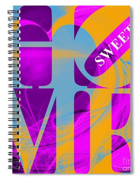 Home Sweet Home 20130713 Fractal Heart V1 Spiral Notebook