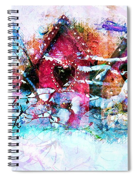 Home Through All Seasons Spiral Notebook
