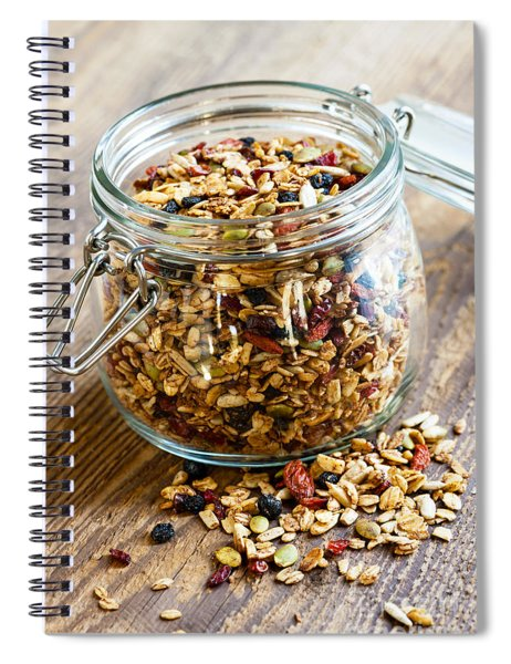 Homemade Granola In Glass Jar Spiral Notebook