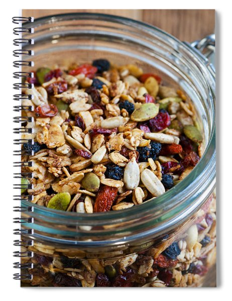 Homemade Granola In Open Jar Spiral Notebook