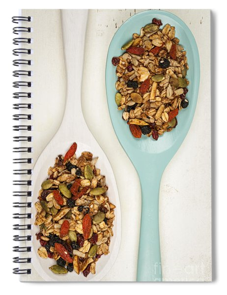 Homemade Granola In Spoons Spiral Notebook
