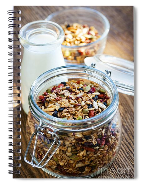 Homemade Toasted Granola Spiral Notebook