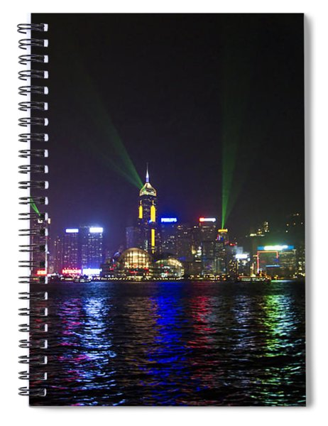 Hong Kong Harbour Laser Light Show  Spiral Notebook