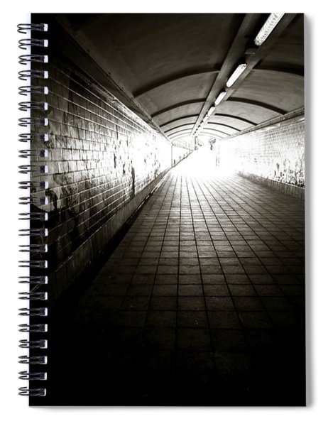 Light At End Of The Tunnel Spiral Notebook