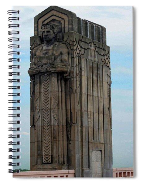 Hope Memorial Bridge Guardian Spiral Notebook