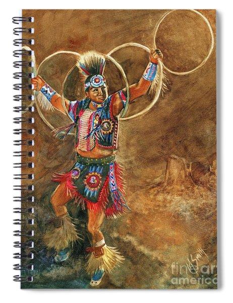 Hopi Hoop Dancer Spiral Notebook