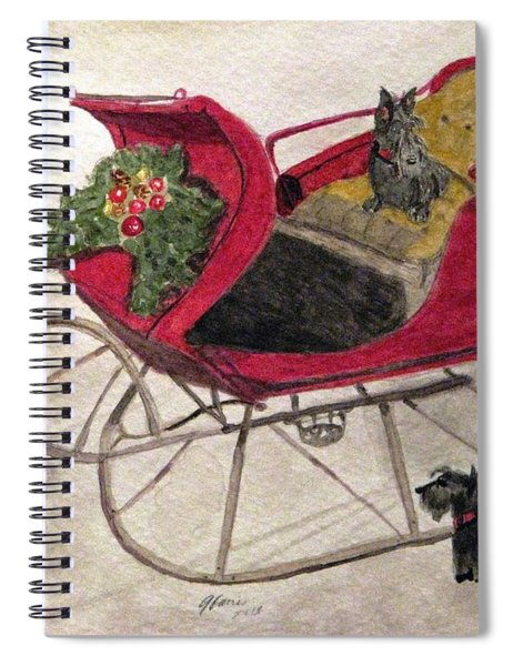 Hoping For A Sleigh Ride Spiral Notebook