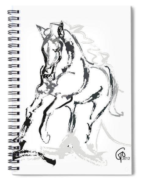 Horse- Andalusian Angel Spiral Notebook