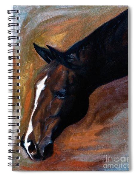 horse - Apple copper Spiral Notebook