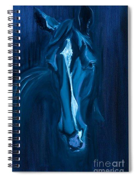 horse - Apple indigo Spiral Notebook
