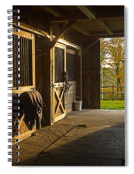Horse Barn Sunset Spiral Notebook