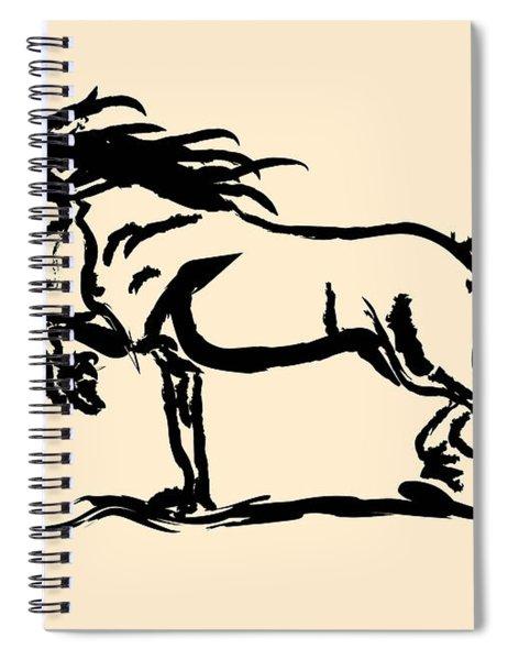 Horse - Blacky Spiral Notebook